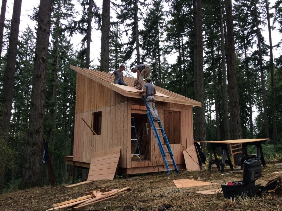 off grid cabin six day cabin day 4-4
