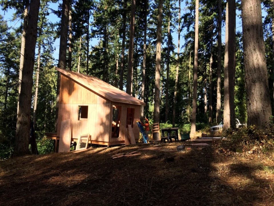 off grid cabin six day cabin day 5-3