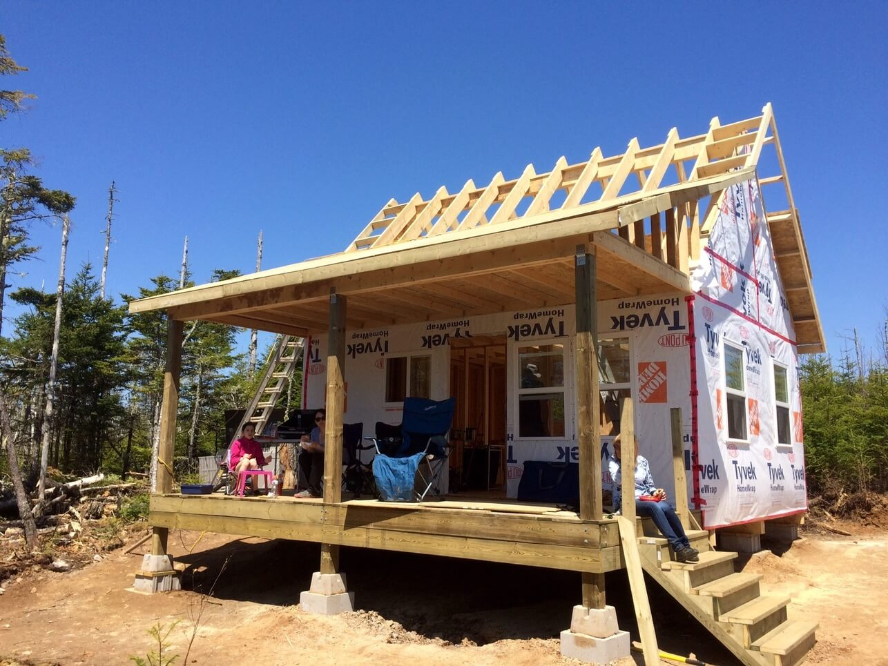 Exterior The Off Grid Cabin Roof OSB Sheathing