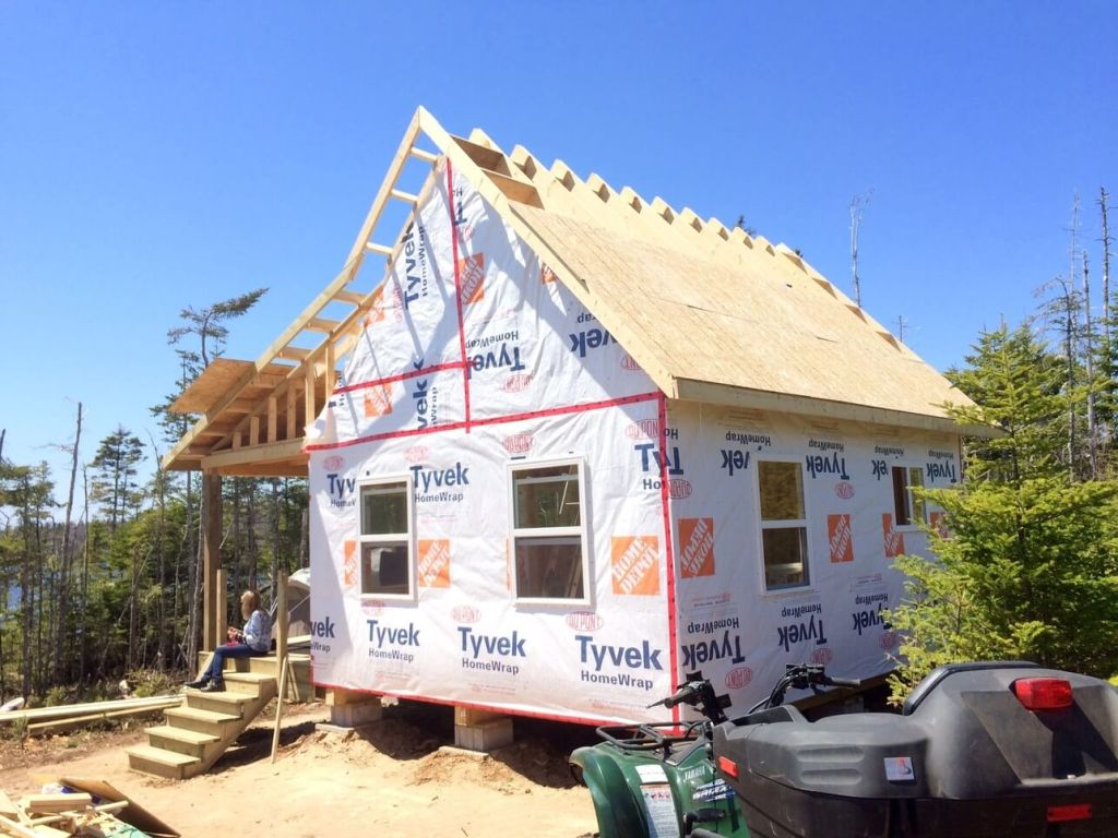 Exterior-The-Off-Grid-Cabin-Roof-OSB-Sheathing-rear