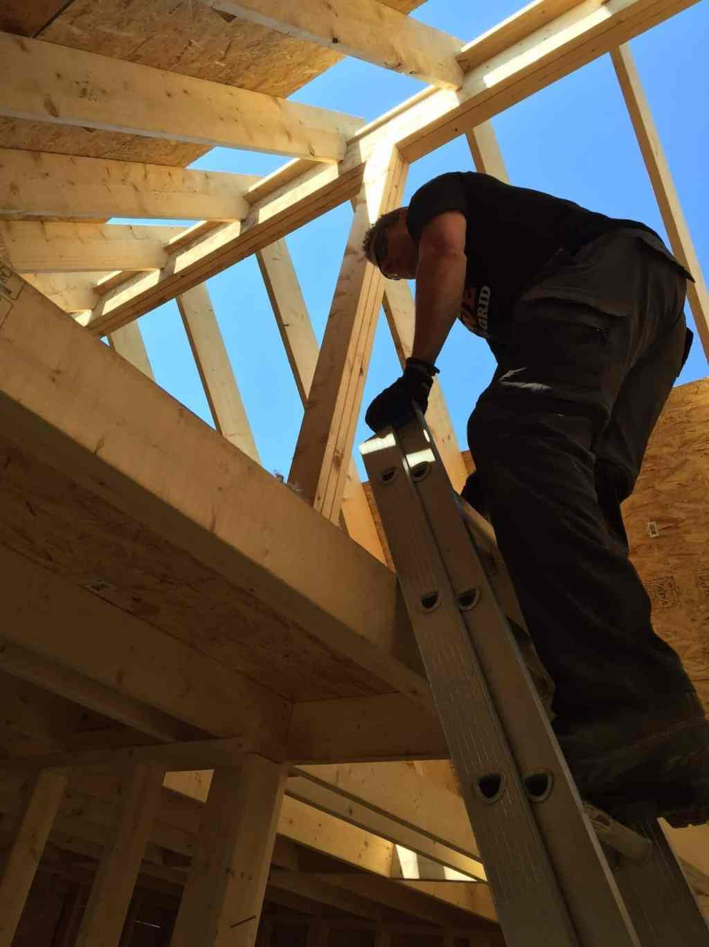 The-Off-Grid-Cabin-Roof-OSB-Sheathing-almost-done-Steve-Barnes-Loft