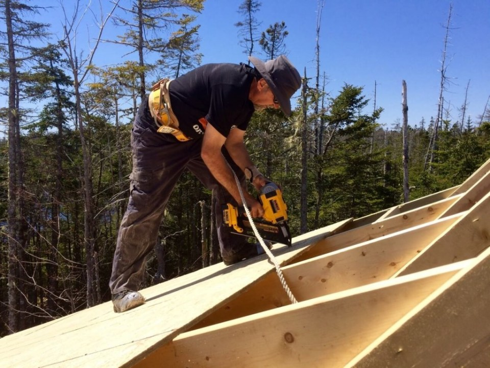 The-Off-Grid-Cabin-Roof-OSB-Sheathing-nailing-over-deck