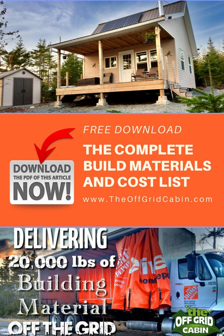 The Off Grid Cabin Materials Build List Pinterest Pin
