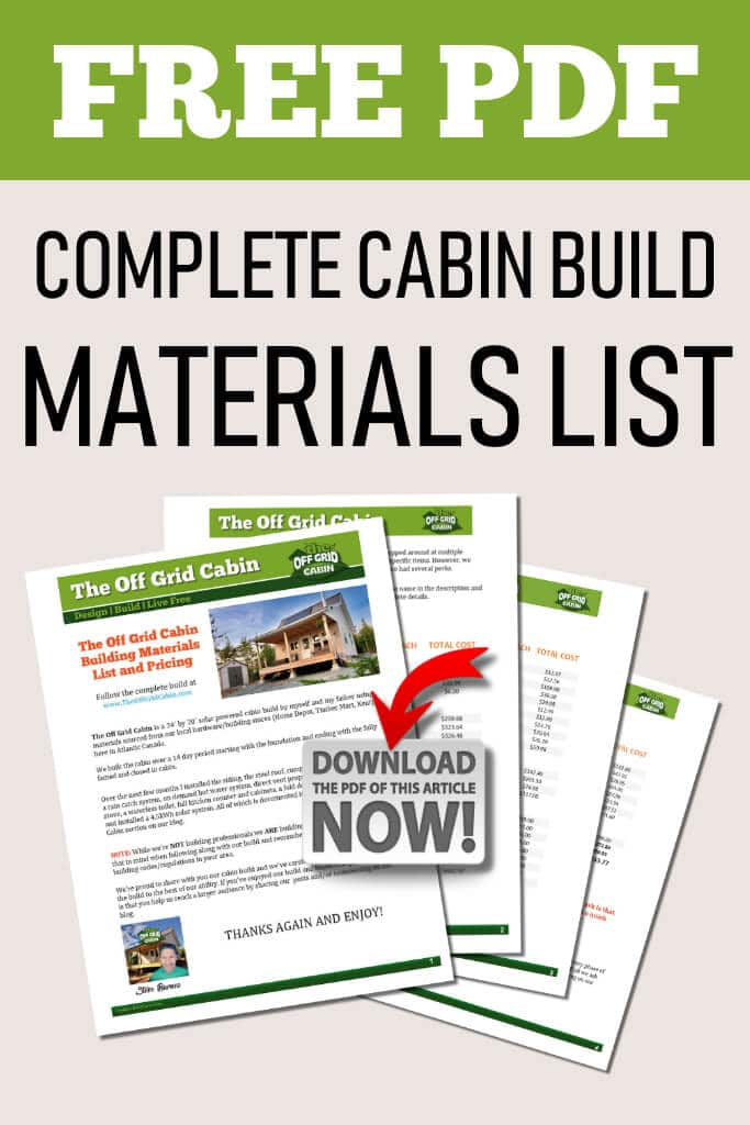 The Off Grid Cabin Build Instructions Sidebar Optin