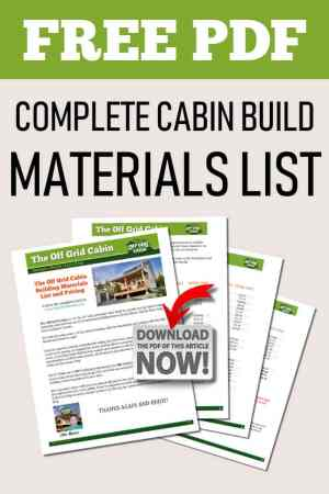 Download The Complete Cabin Materials List