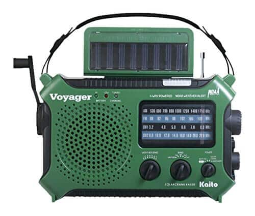 Kaito KA500GRN 5-Way Powered Emergency AM-FM-SW Weather Alert Radio, Green