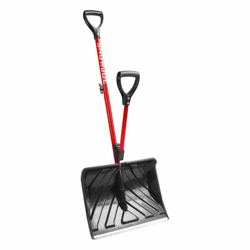 Snow Joe SHOVELUTION 18 Inch Strain-Reducing Snow Shovel with Spring Assisted Handle