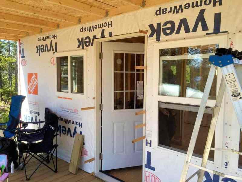 The-Off-Grid-Cabin-Front-Door-Installed