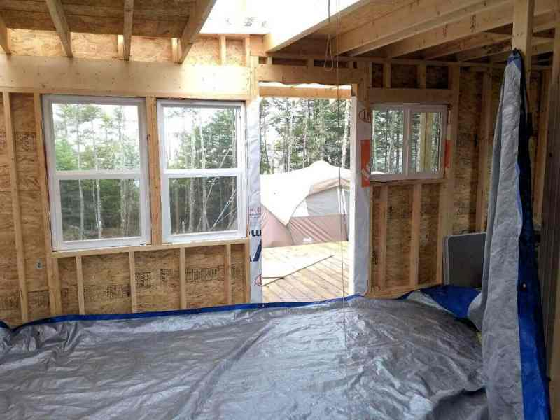 The-Off-Grid-Cabin-Front-windows-installed