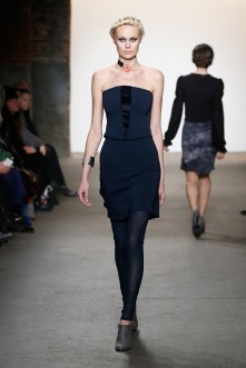 NEW YORK, NY - FEBRUARY 15: A model walks the runway wearing Cute Like Mad at Nolcha shows during New York Fashion Week Women's Fall/Winter 2016 presented by Neogrid at ArtBeam on February 15, 2016 in New York City. (Photo by Brian Ach/Getty Images For Nolcha)