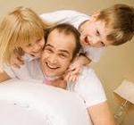 divorced dad and kids
