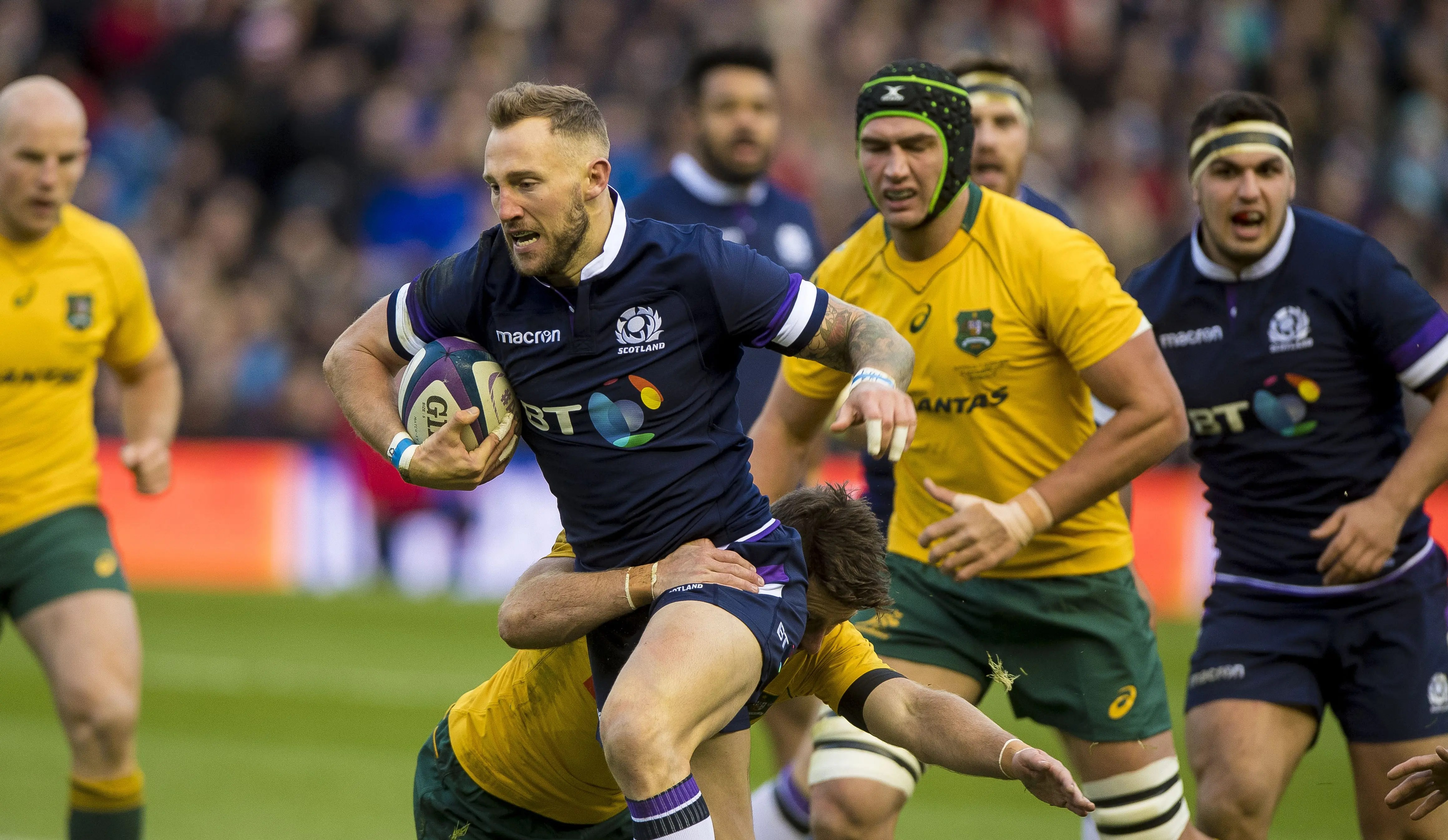 McGuigan brace lifts rampant Scotland to record win over Australia