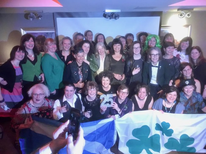 25th-anniversary reunion at the Raeburn House Hotel of Scotland's first women's rugby team
