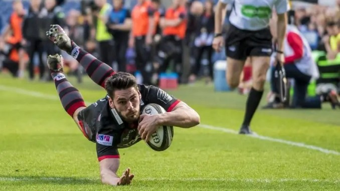 Sam Hidalgo Clyne scores as Edinburgh dismantle Scarlets at Murrayfield