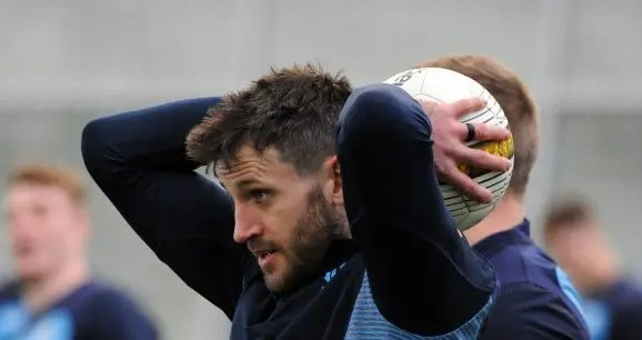 Tommy Seymour training at Oriam with Scotland.