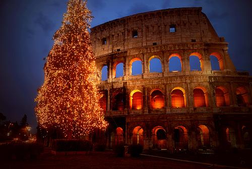 Christmas in Italy- Colliseum