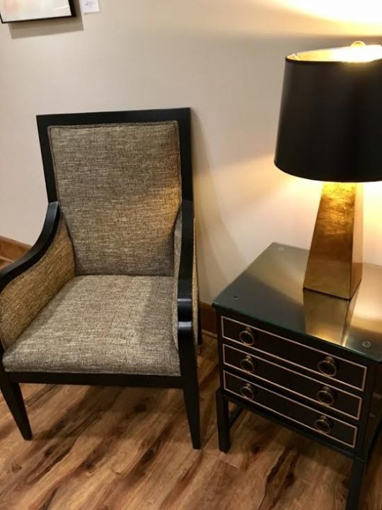 Lounge Chair and Lamp