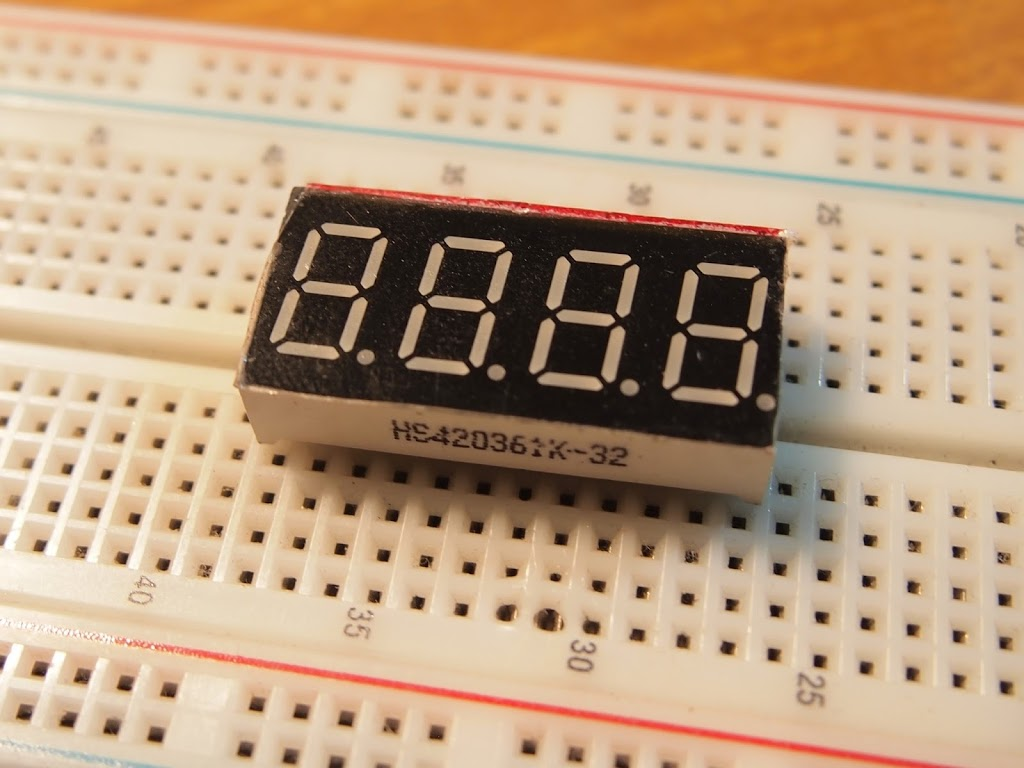 How To Get Your Hs420361k 32 4 Digit 7 Segment Display Working With In The Circuit Above Using Seven Commond Anode Type An Arduino Okelo