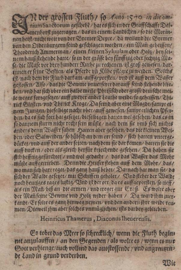 Heinricus Tamerus, 1580.
