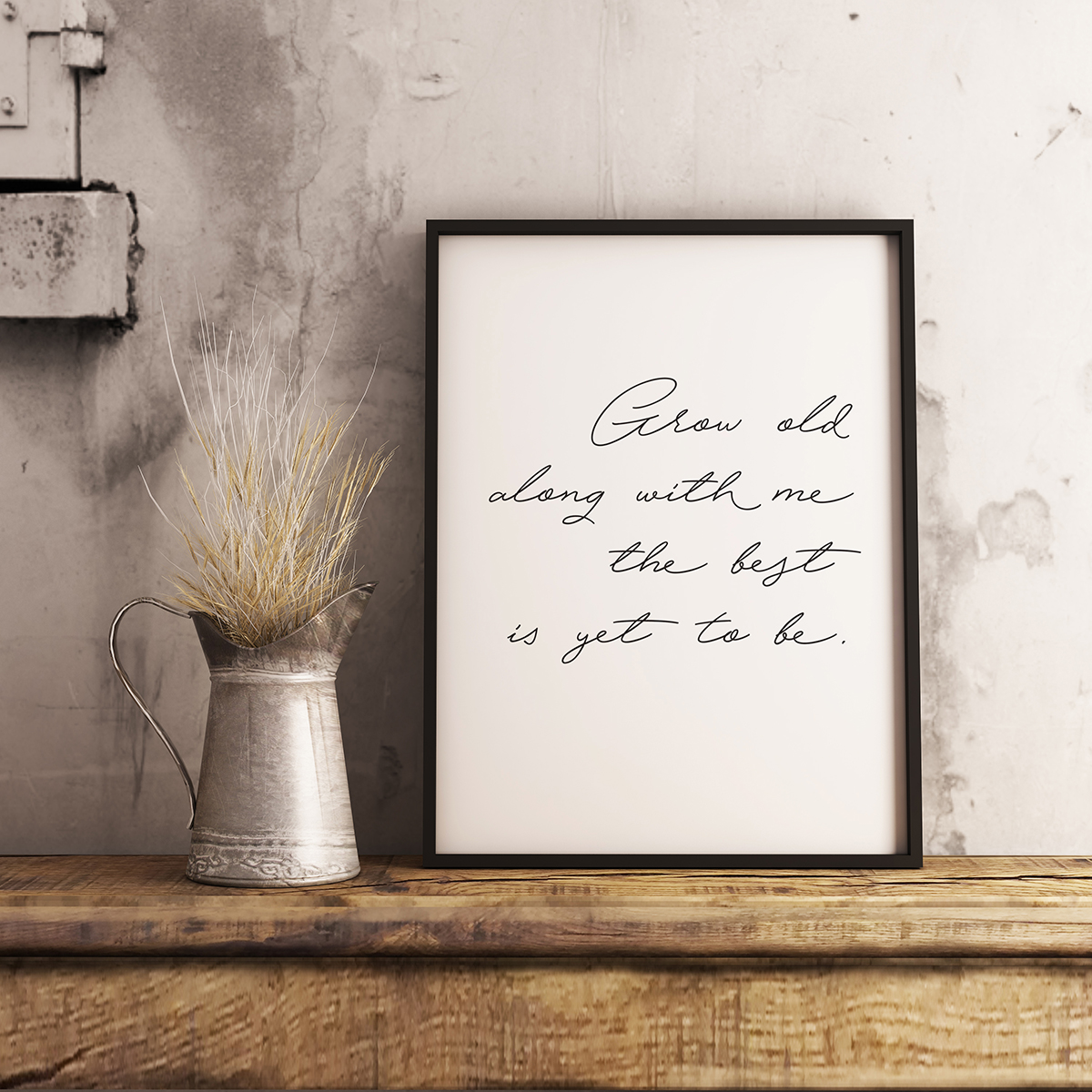 Handwritten Quote by Robert Browning Wall Art