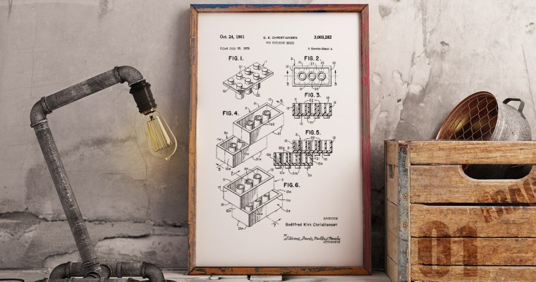 Lego Patents Wall Art – Set of 4