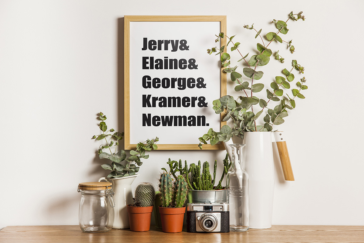 """Seinfeld"" Name Wall Art"