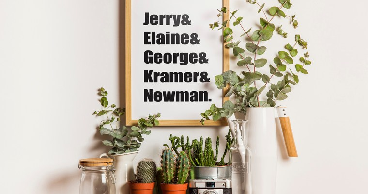 """Seinfeld"" Name Wall Art"