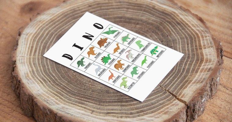 Dinosaur Bingo Cards