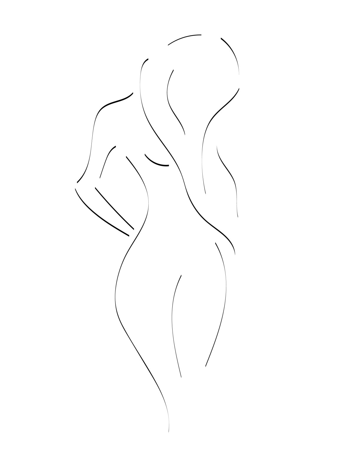 minimalist woman artwork