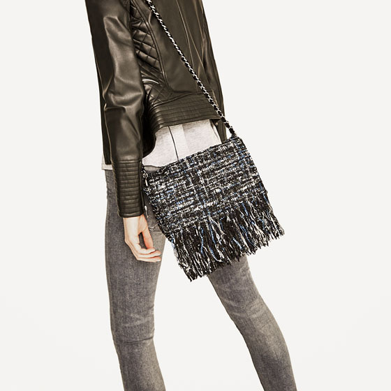 Zara spring bag Chanel tweed fringe The Ok Moms