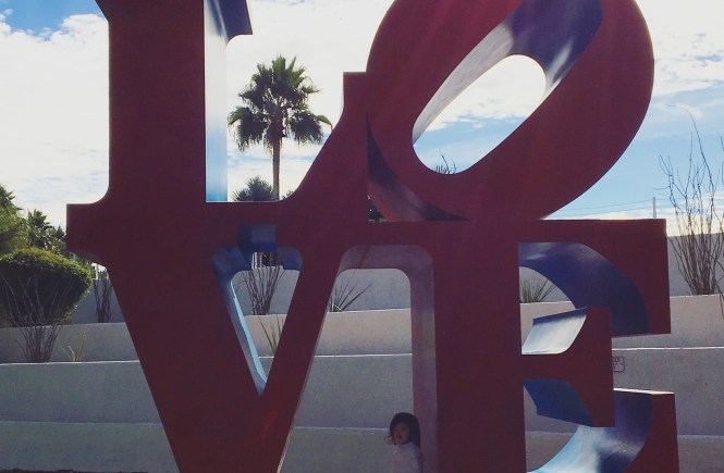 Civic Center Mall Love SIgn