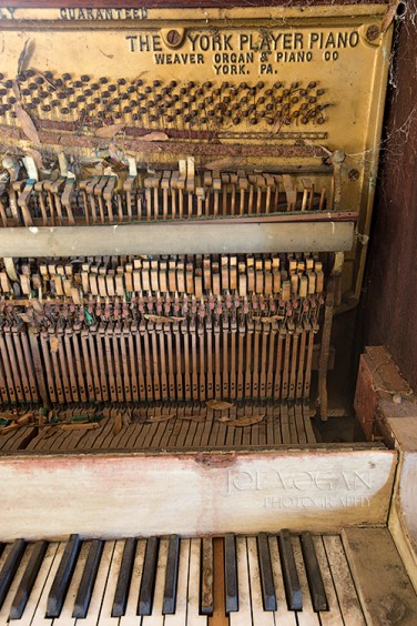 A player piano shell found inside