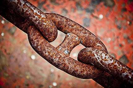 Picture of chain links at http://theolddirtroad.com