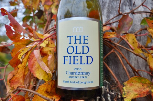 The Old Field, 2016 Mostly Steel Chardonnay, Fall Leaves, Tree Bark, White wine, North Fork, Long Island, New York