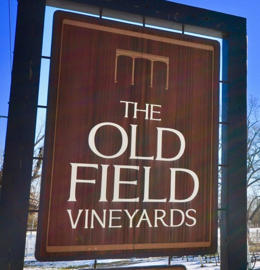 Our sign-The Old Field Vineyards.