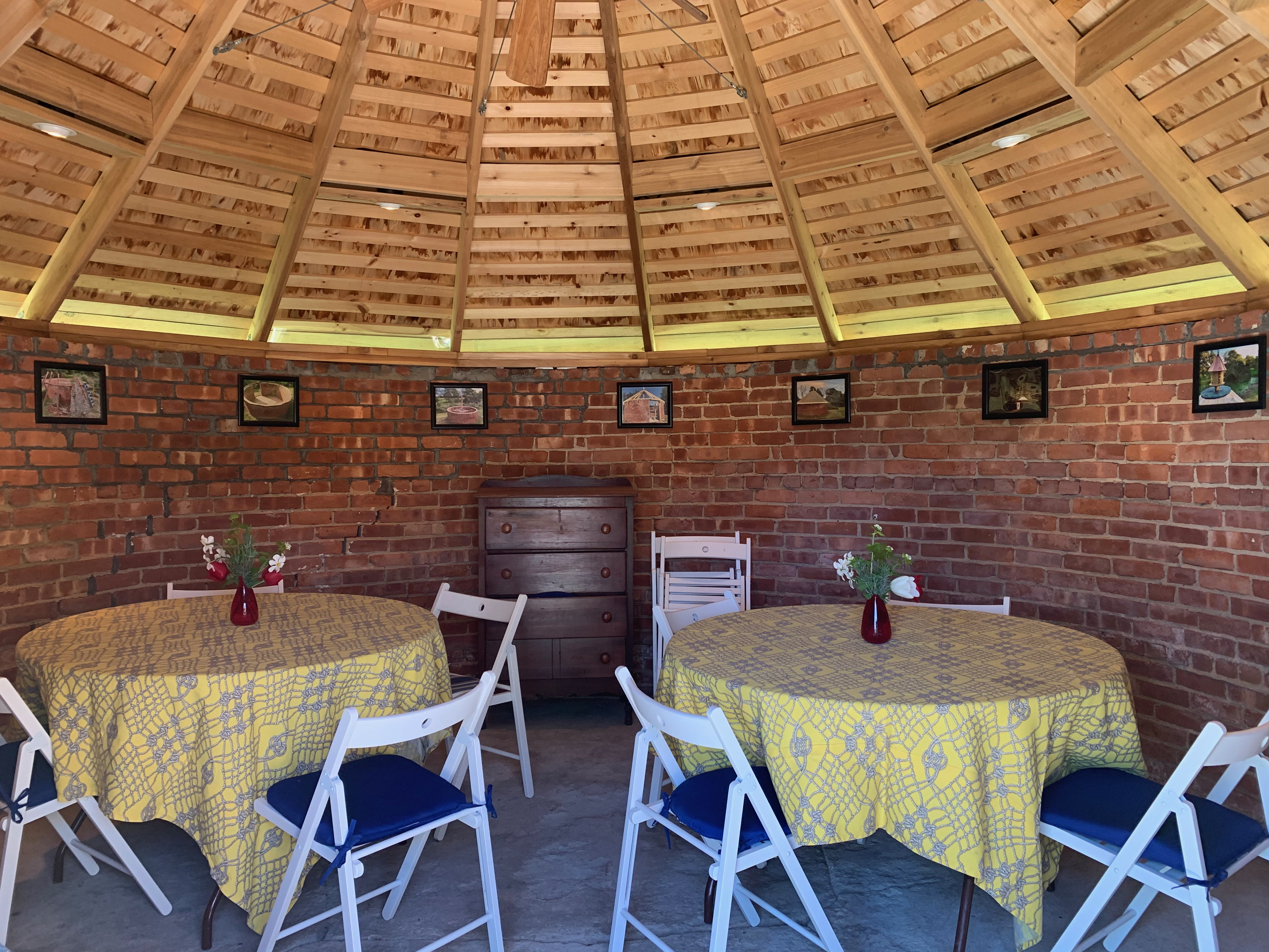 tables in Ice House building