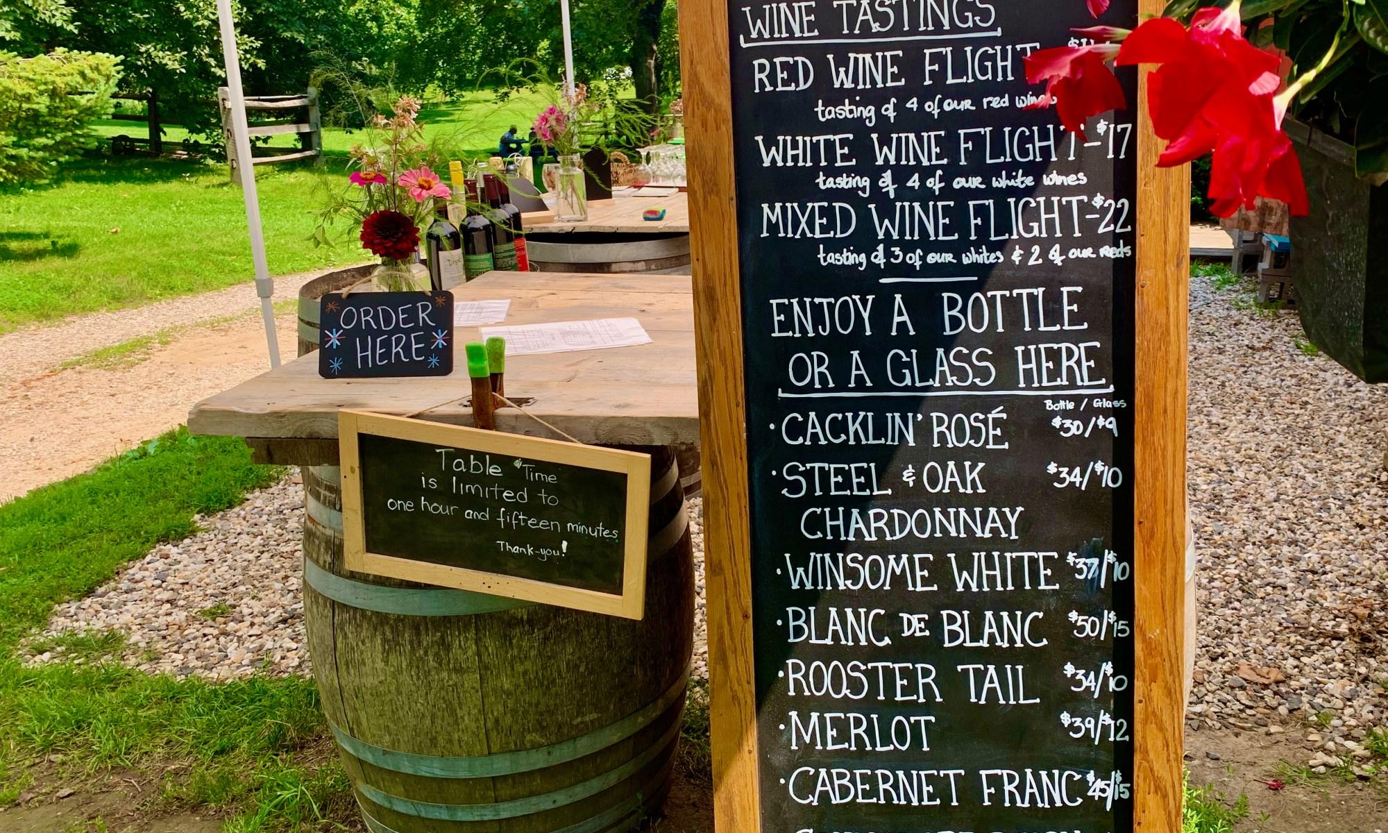 Outdoor Welcome bar