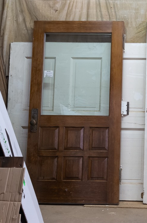 This door pulled from the Orland P Bassett House is not original