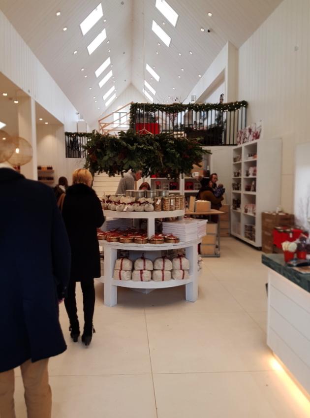 The new hall at Daylesford Organic Farm Shop, a stunning farm shop near our luxury B&B