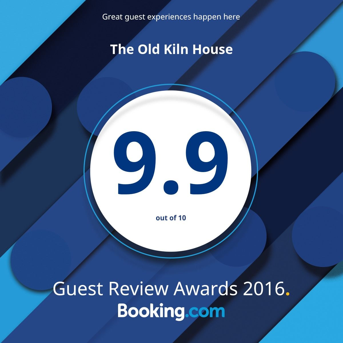 2017 Booking.com award of 9.9