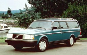 Old Money TV Show Problem: none of the stars of the show want their picture taken. Thus, the family Volvo stands alone.
