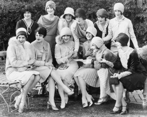 Actresses at Mary Pickford's Tea Party
