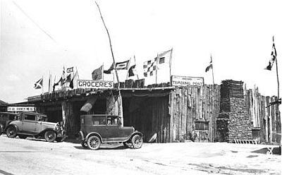 Pawnee Bill trading post, Oklahoma Territory, ca. 1920s