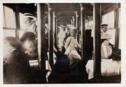 hansa cabin - Passengers on a Zeppelin