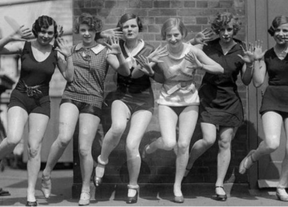 Flappers dancing the Charleston