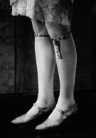 1920s garter - Garters were still quite common in the 1920s and used for fashion purposes