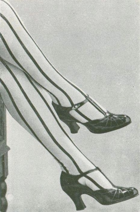 A favourite of the 1920s New Woman: striped stockings