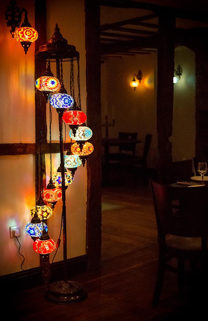 Traditional coloured Turkish lights