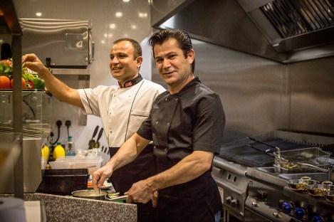 Enjoying the new Olive House kitchen