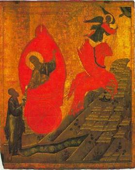 Sfantul Prooroc Ilie Ridicarea la cer-Scoala Novgorod-secXVI